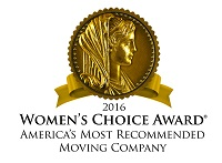 2016 Women's Choice Award America's Most Recommended Moving Company